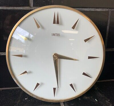 SMITHS Mid Century Tuning Fork Vintage Wall Clock Jeco Powered