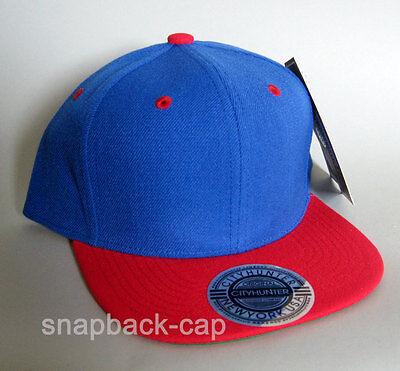 CITYHUNTER Cap USA C-91 New York NY Blank Blue Red Hat Snapback cap city hunter