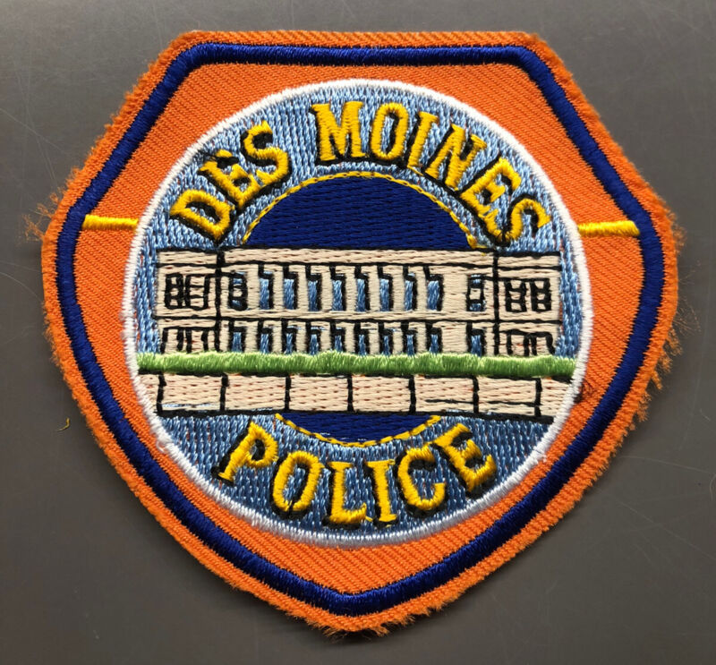Des Moines Iowa Police Patch