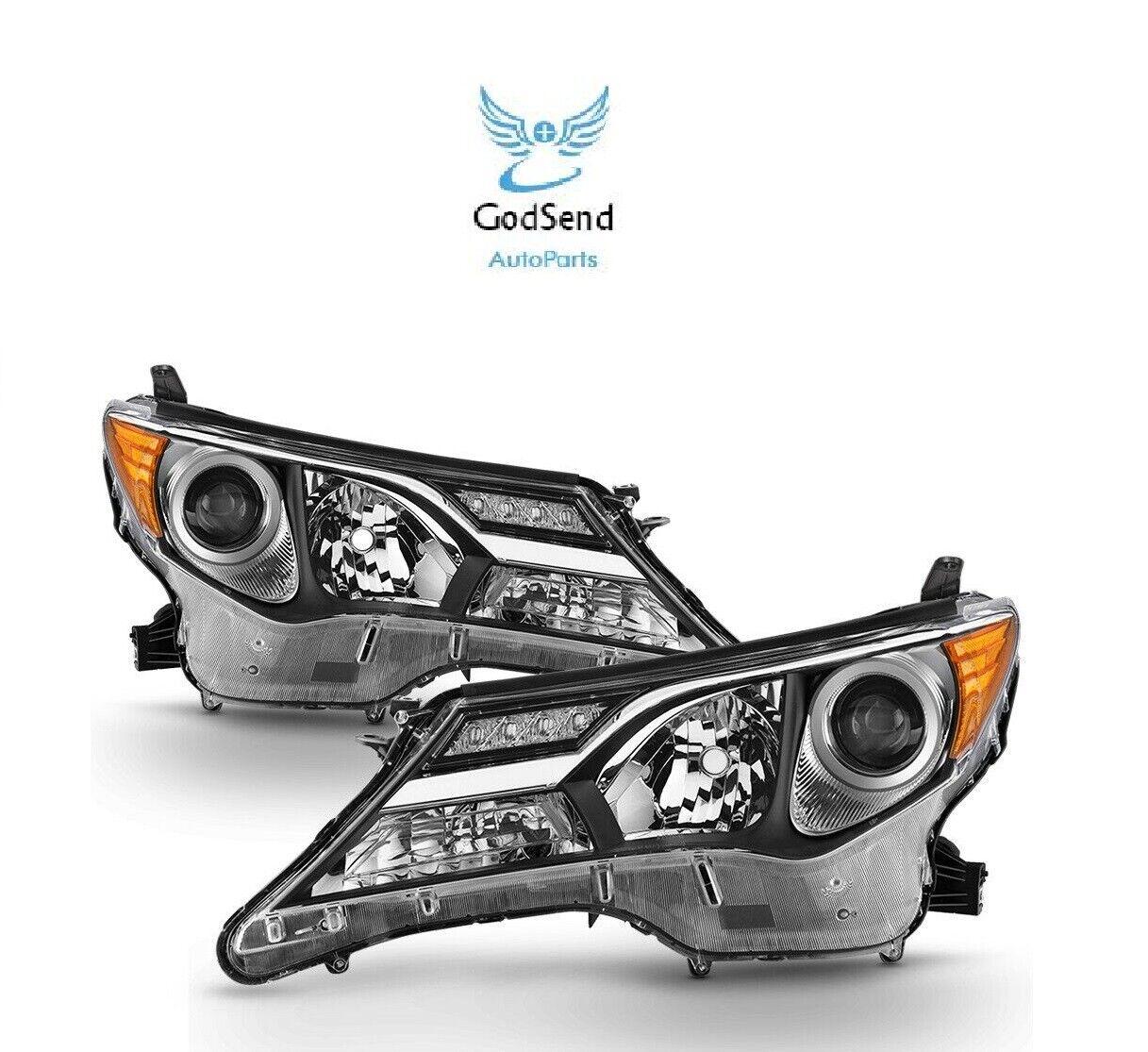 For 2013 2014 2015 SET RAV4 RAV-4 Headlights LH+RH Headlamps Head Lamps Lights