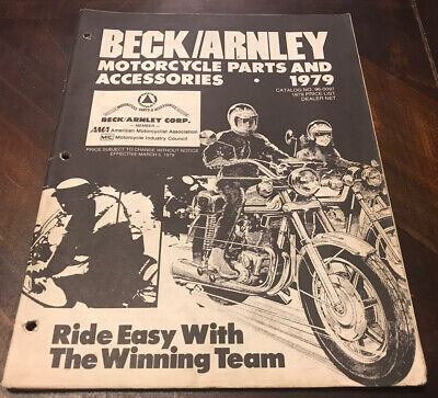 Vintage 1979 Beck / Arnley Motorcycle Parts And Accessories Catalog