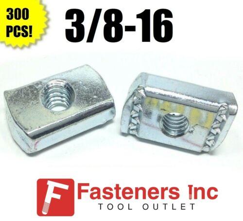 (QTY 300) 3/8-16 Strut Nuts W/O Spring for Unistrut Channel #4168 P3008 EG