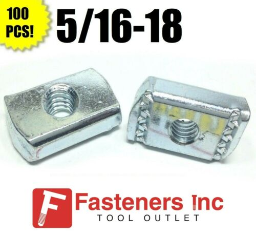 (#4166) (P3007) 5/16-18 Strut Nuts W/O Spring Unistrut / B-Line Channel 100/BOX