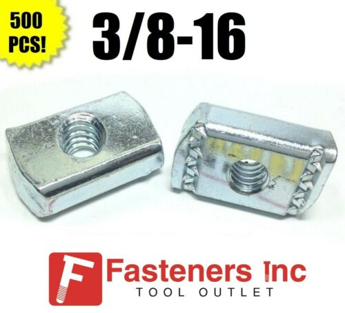 (QTY 500) 3/8-16 Strut Nuts W/O Spring for Unistrut Channel #4168 P3008 EG