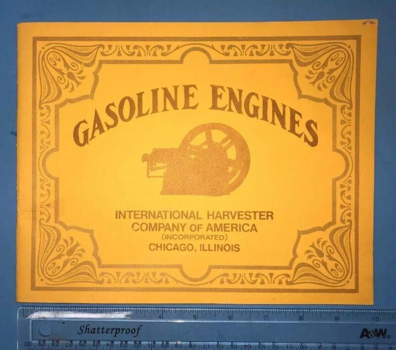 Gasoline Engines IHC International Harvester Sales Catalog Book Manual