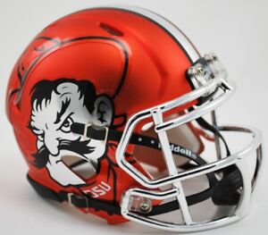Oklahoma State Cowboys Chrome Pistol Pete Revolution Speed Mini Football Helmet