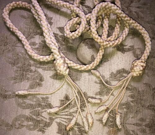 """83"""" Antique Victorian Rope with Tassels"""