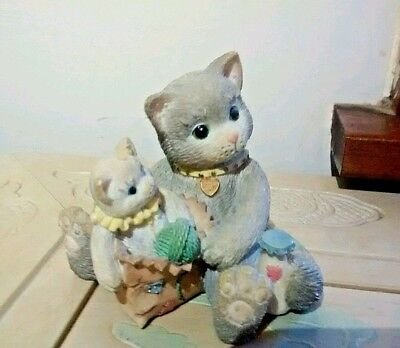 "Calico Kittens Figurine ""I'm Sending You A Bag Full Of Love"""