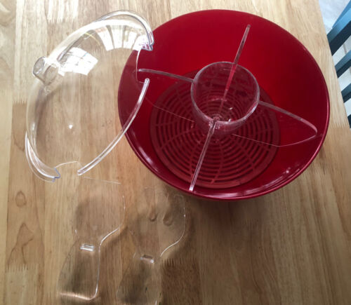 Prodyne Red Acrylic Cold Bowl On Ice With Serving Spoon Fork - $25.00