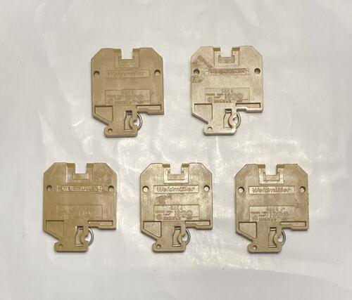 ELECTRICAL TERMINAL BLOCK WEIDMULLER SAK4 600V DIN 4MM2 22-10 LOT OF 5 USED