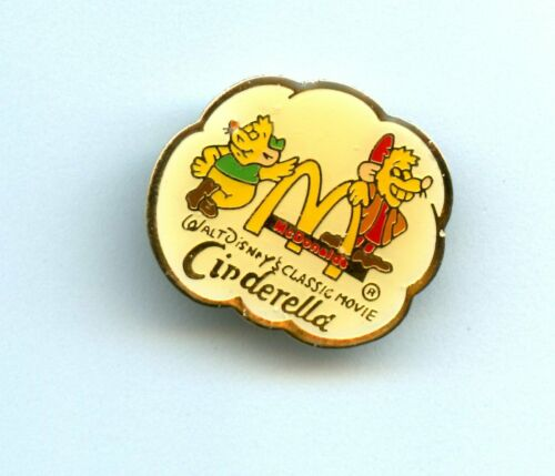 1987 The Walt Disney Company Cinderella Promo Mice Gus & Jaq Pin 4588