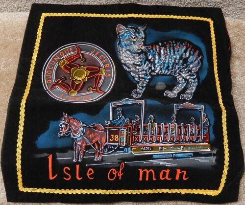 Isle of Man Coat of Arms 3 legs of Man Quocunque Jeceris Stabit Felt Cloth wSnap