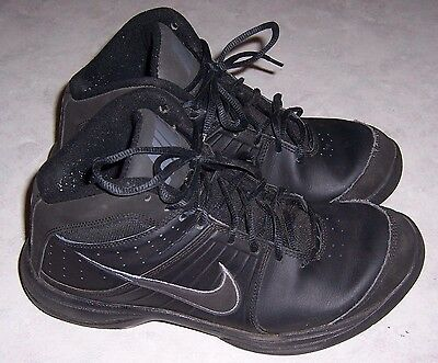 2623b3cd261972 NIKE 443462 Black Basketball Athletic Sneakers Mens Lace Up Shoes Size 8