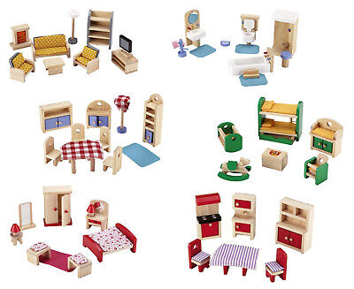 PUPPENHAUSMÖBEL HOLZ Einrichtung Puppenhaus Zimmer Möbel universell ~yx387v 5e1l