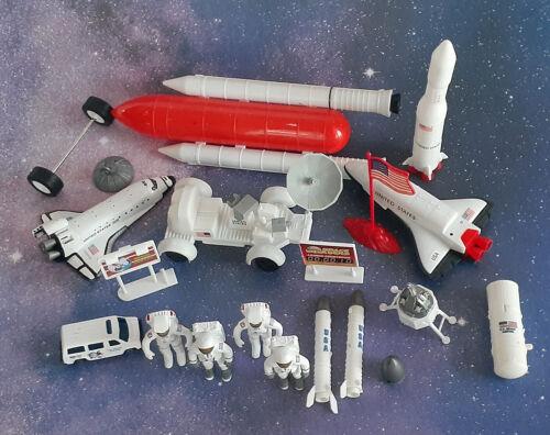 Vintage Lot Space Toys Figures APII • Astronaut Nasa Rocket Shuttles Moon Rover