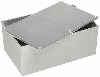 BUD Aluminum Electronics Enclosure Project Box Case Metal Electrical 12x7x4 .
