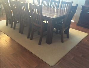 LARGE DARK WOOD DINING SUITE SOLID WOOD TABLE & 10 CHAIRS Casuarina Kwinana Area Preview