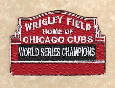 Chicago Cubs 2016 World Series Champions Wrigley Field Marquee Iron On Patch