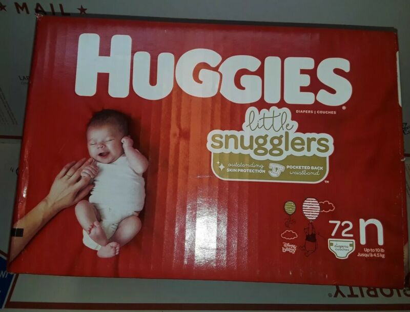 ✔Huggies Little Snugglers Baby 👶🍼Diapers Size Newborn 72 Count |NEW Big Pack✔