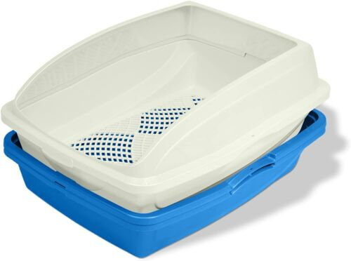 Van Ness CP5 Sifting Cat Pan/Litter Box with Frame, Blue/Gray 19