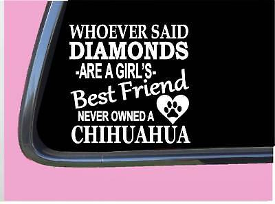 "Chihuahua Diamonds TP 471 Sticker 6"" Decal rescue dog kennel mexico"