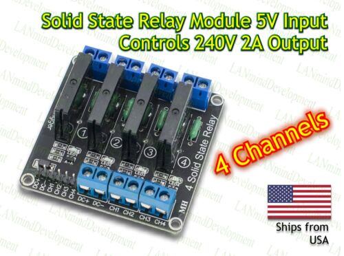 4 Channel 5V DC Relay Module Solid State Low Level SSR G3MB-202P 2A for Arduino