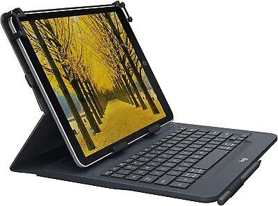 Logitech Slim Folio w/ Integrated Bluetooth Keyboard for iPad 5 & 6th Gen Black