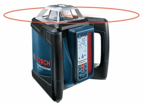 Bosch Grl 500 Hck Self-Leveling Rotary Laser Complete Kit