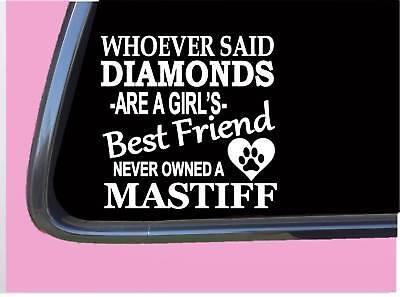 "Mastiff Diamonds TP 472 Sticker 6"" Decal rescue dog english french neapolitan"