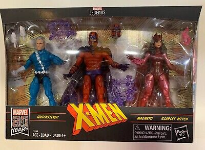 Marvel Legends X-Men 3-pack Magneto Scarlet Witch Quicksilver Exclusive In stock