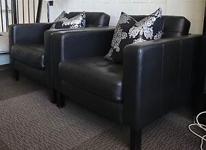 Leather lounge chairs (pair) Bayswater Bayswater Area Preview