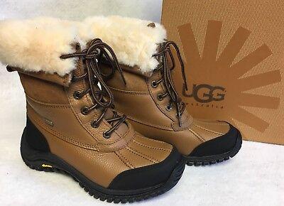 Ugg Lace Up Boots (UGG Australia Adirondack II Waterproof Lace Up Boots 5469 Otter Leather Women's)