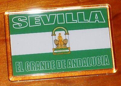 Sevilla Andalucia Andalusia Football Flag Fridge Magnet