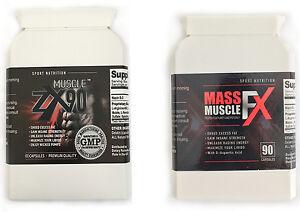 MUSCOLO-ZX90-amp-Massa-FX-resistente-Bodybuilding-INTEGRATORI-ERBE-naturale