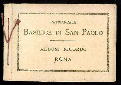 PATRIARCALE BASILICA DI SAN PAOLO ALBUM RICORDO ROMA ANNI '30