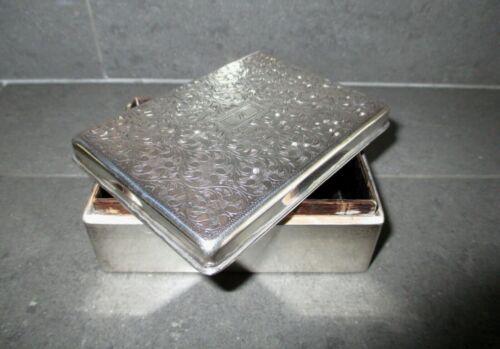 "Sterling Silver 970 Cigarette Box / Humidor; C.1955; Japan; Monogram ""M"" or ""W"""