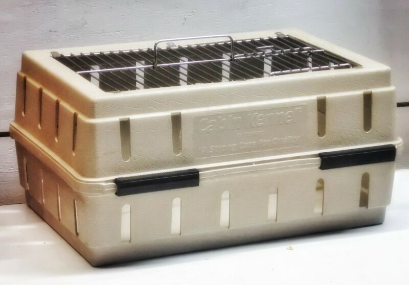 """Doskocil Cabin Kennel Airline Underseat small dog 15"""" x 11"""" x 8"""" Crate CAT Bird"""