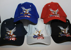 American-Eagle-Adjustable-Baseball-Hat-Sports-Cap-with-USA-Flag-color-selection