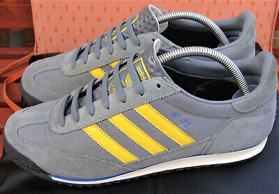 ADIDAS SL72 VINTAGE Men`s Trainers (Size 10UK) Grey & yellow) (Great condition)