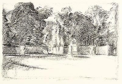 POTSDAM - SCHLOSS SANSSOUCI - PARK - Manfred Pietsch - Lithografie 1978