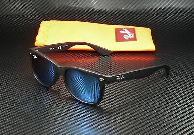 RayBan Junior RJ9052S 100S55 NEW WAYFARER MATTE BLACK BLUE 47 mm Sunglasses