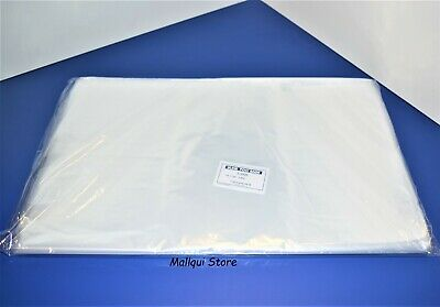 50 CLEAR 18 x 24 LAY FLAT OPEN TOP POLY BAGS PLASTIC PACKING ULINE BEST 1 MIL