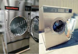 Speed Queen 75lbs Coin Operated Gas Dryer New & Washer Stainless Steel 80lbs Set