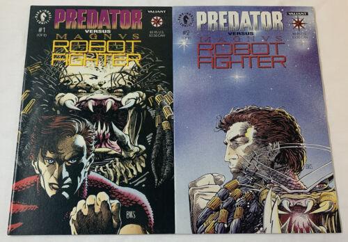 Valient PREDATOR VS MAGNUS ROBOT FIGHTER comics #1 and 2 ~ FULL SET