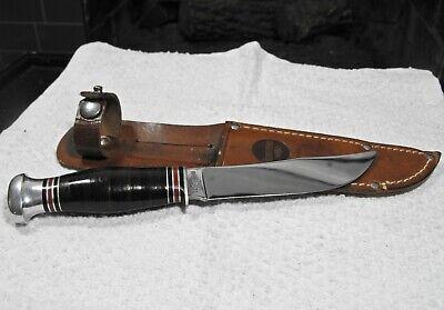 vintage REMINGTON RH 71 hunting knife fixed blade w/leather sheath UNUSED EX++