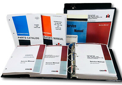 International Hydro 186 Tractor Service Parts Operators Manual Shop Ovhl Set