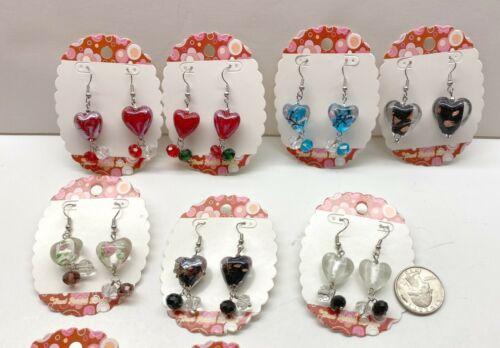 Wholesale Lots Earrings Heart Earrings Dangle Earrings 24 pcs Mix Style Beaded