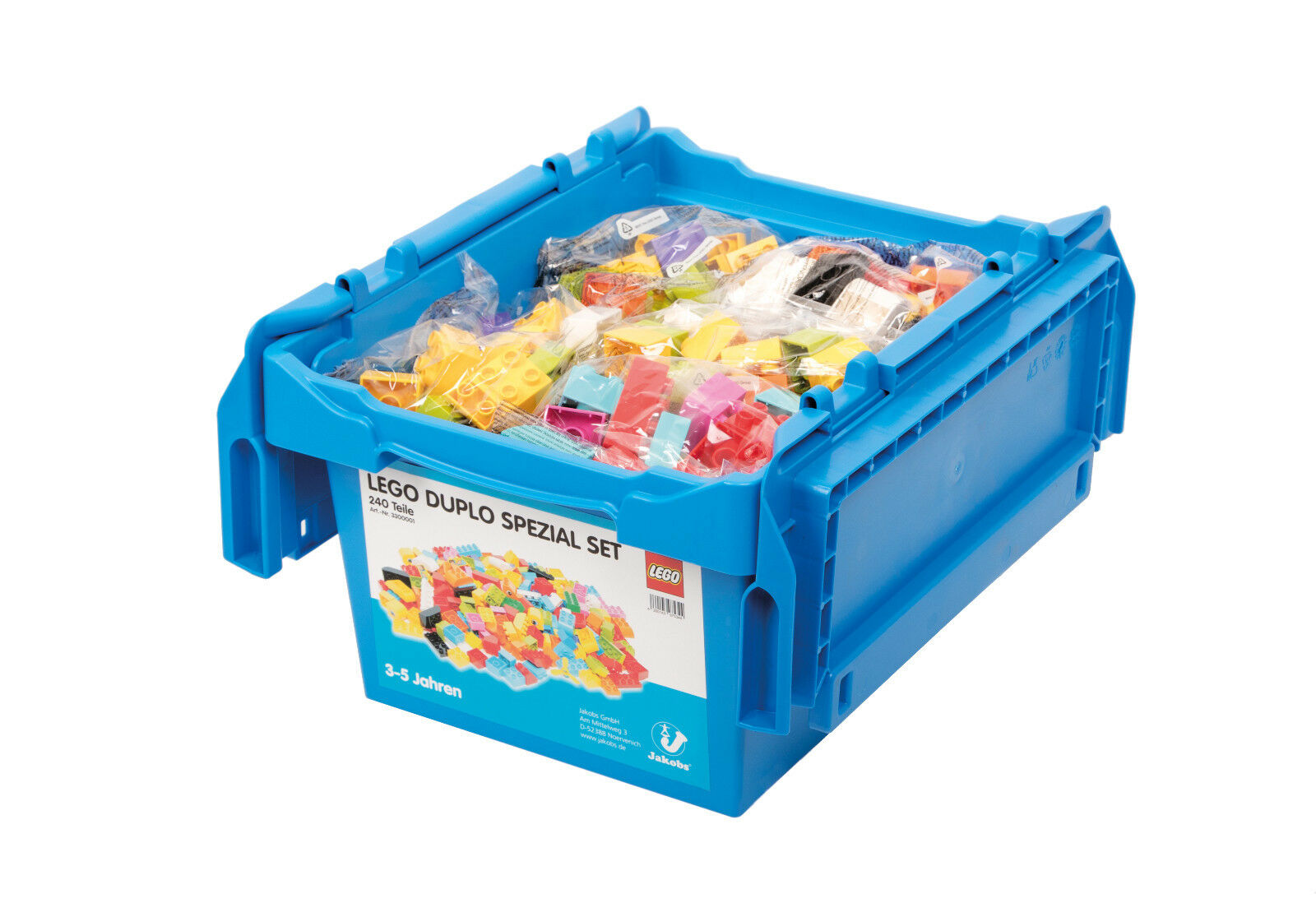 LEGO DUPLO PIETRE SPECIALE SET 240 tlg. in STABILE Kunststoffbox formazione