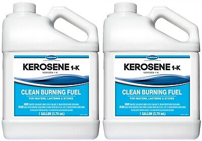 Crown Kerosene 1-k 1 Gallon Clean Fuel For Heaters Lamps Stoves - 2 New Sealed