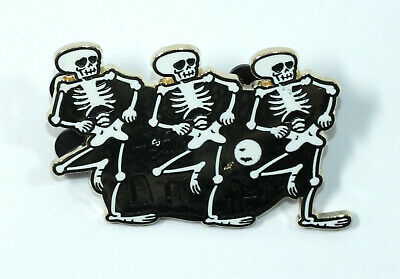 Disney Halloween Dancing Skeletons (Disney Pin Trading Skeleton Dance Halloween D23 10th Anniversary Gold)